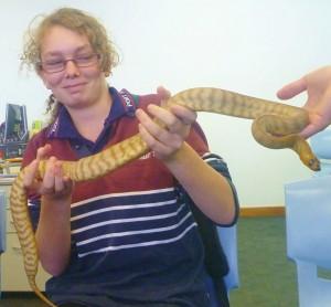 Christina and python