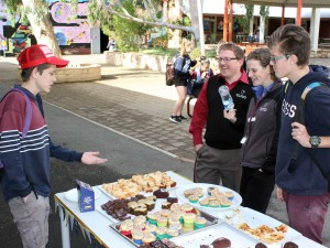 kayne, allens and jordan outside biggest morning tea