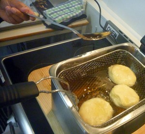 deep frying donuts