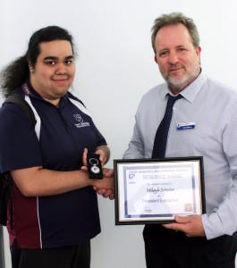 Mikayla wins Resilience Award