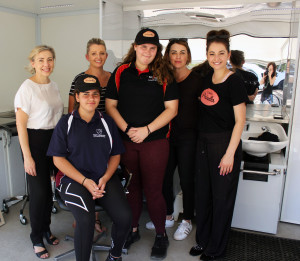 staff and students in Priscilla